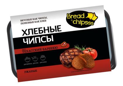 Хлебные чипсы «BreadChipsss»  копченый лосось.